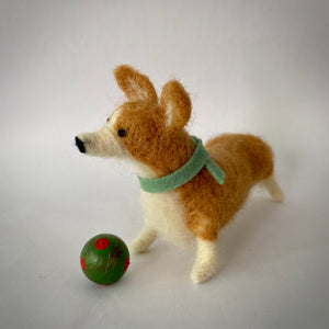 Needle Felted Pembroke Welsh Corgi Dog - OOAK