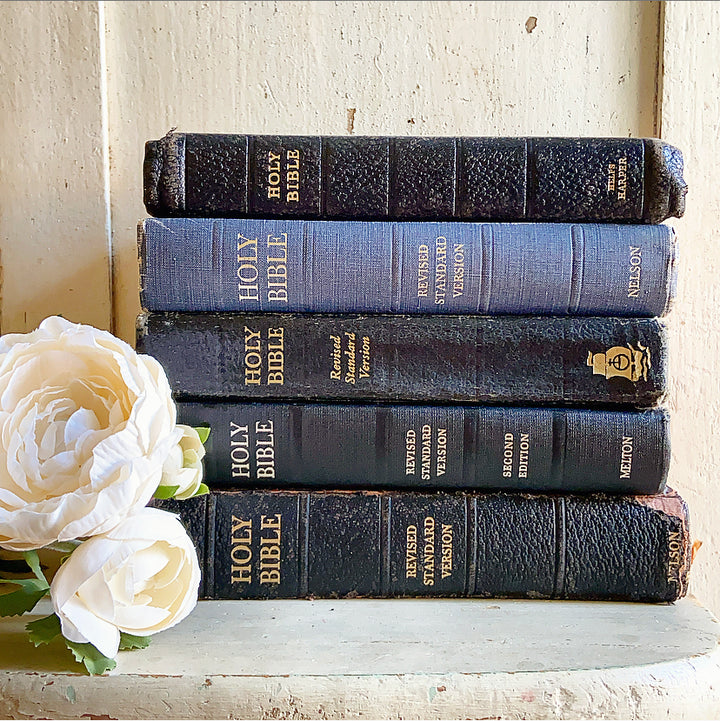 Vintage Holy Bible Book Stack Instant Collection - Clover Market