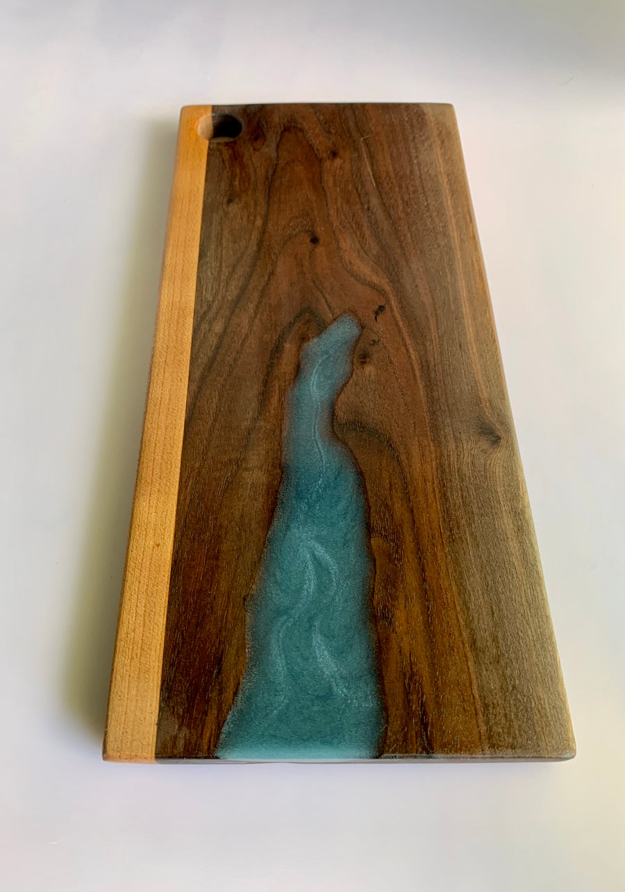 Elongated Epoxy Cutting Board -OOAK