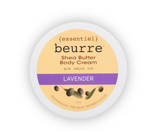 Shea Butter Body Cream - Lavender (4oz) - Clover Market