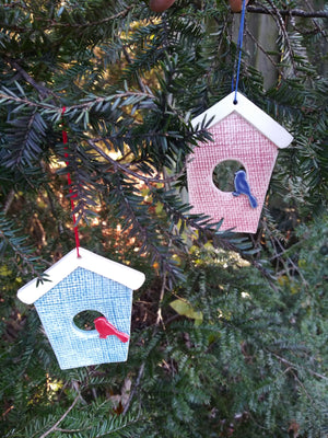 Ceramic Birdhouse Ornament