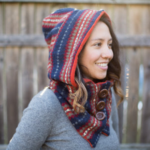 Janey Hooded Scarf - August (Cashmere!)