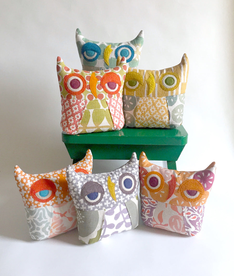 Patchwork Owl Pillows