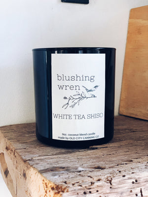 white tea shiso candle