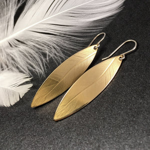 Nature Impression, Brass Long Drop Earring