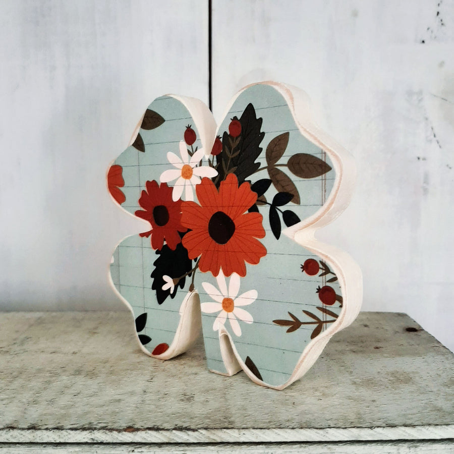 Lucky Clover- Orange Floral SMALL