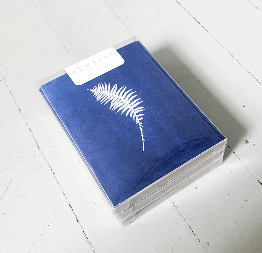 FERNS - boxed set of greeting cards