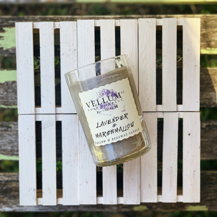 Lavender Marshmallow Tallow & Beeswax Candle - Clover Market