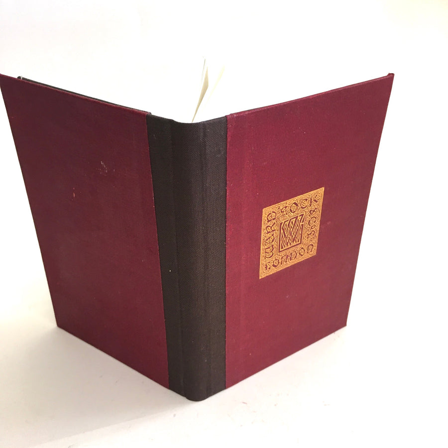 Moleskine notebook, made with recycled book cover. Red, publisher's imprint OOAK