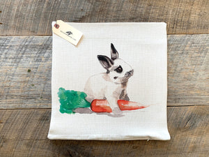 Bunny with Carrot Pillow Case
