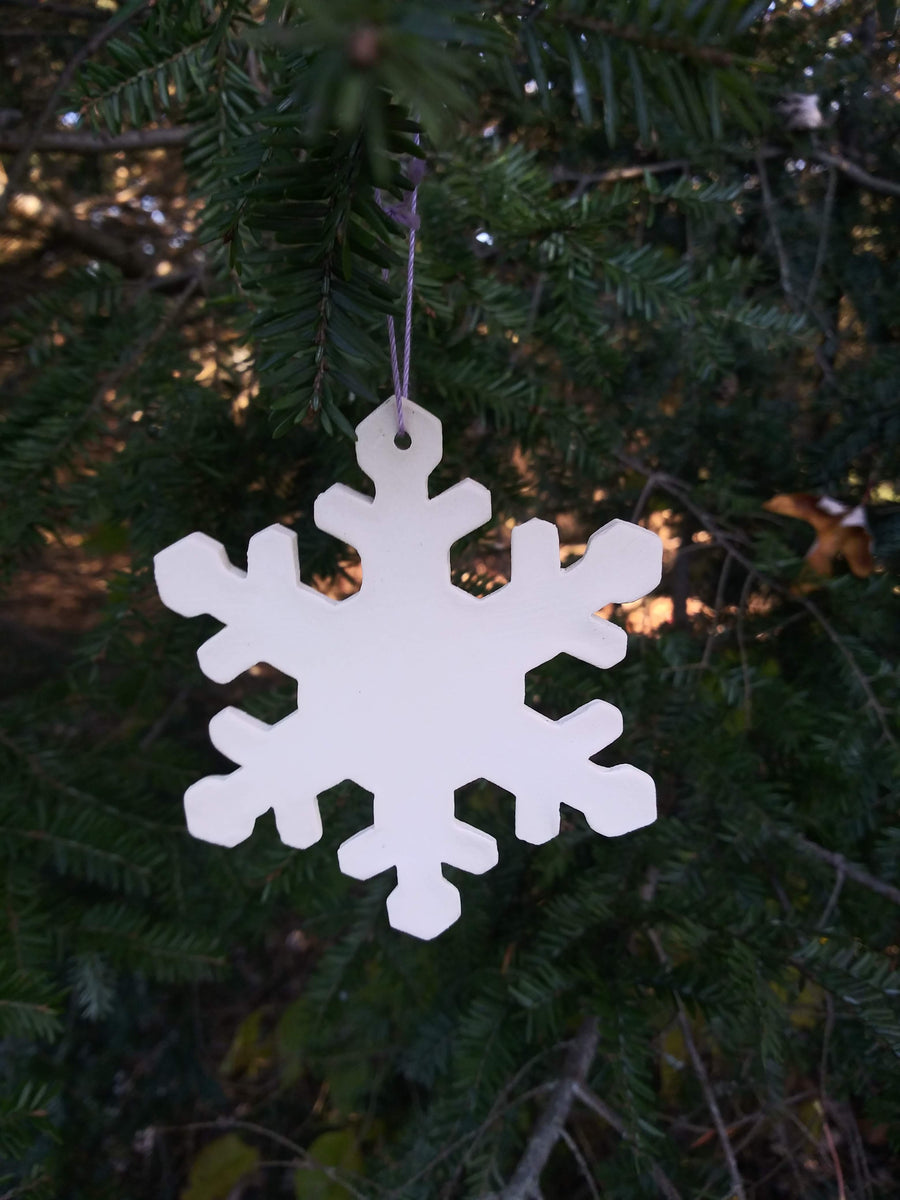 Set of 3 Ceramic Snowflake Ornaments