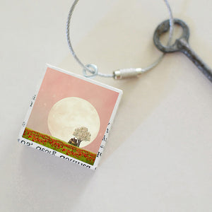 """Strawberry Moon"" Keychain"