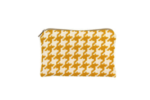 Mini zipper pouch - Houndstooth pattern in 6 colors