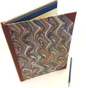 "Tablet Cover for 9"" x 12"" legal pad. Covered in hand marbled paper"