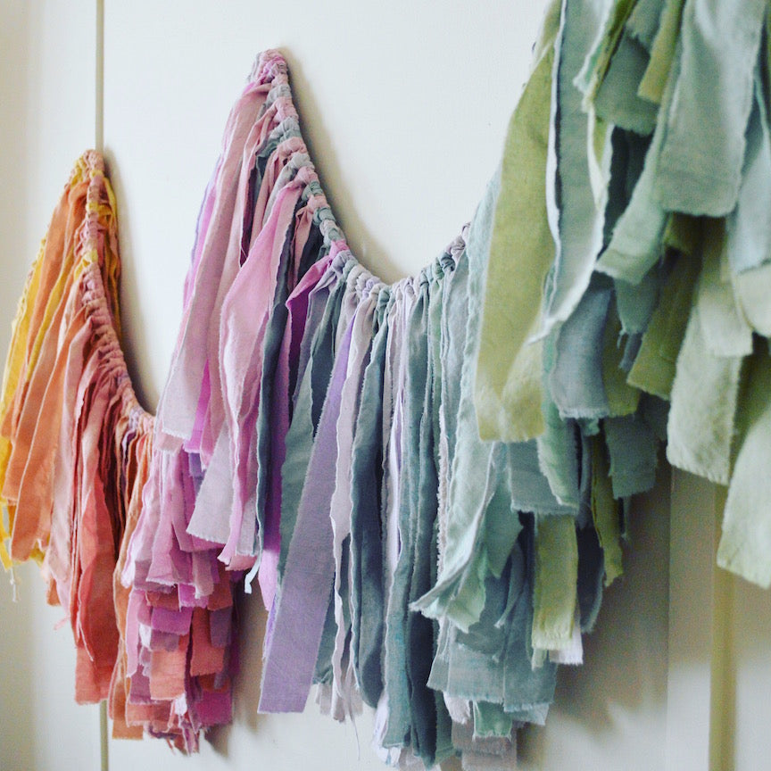 Wanderlust Torn Fabric Garland