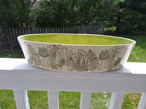 Oval Cactus Bowl