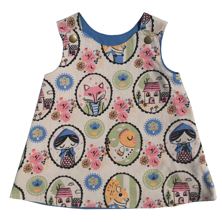 Corduroy Print Baby Dress - Exclusive - Clover Market