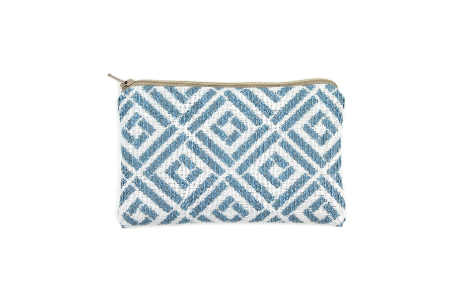 Mini zipper pouch - Geometric pattern in 4 colors