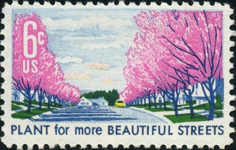 1969 United States Plant For More Beautiful Streets Stamp - Postage Stamp Necklace