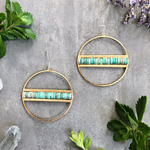 Winola Earrings with Chrysoprase Gemstones -EXCLUSIVE