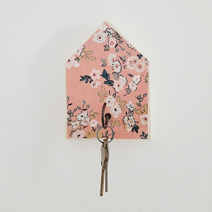 Home Sweet Home Pink Floral Key Hook - Exclusive
