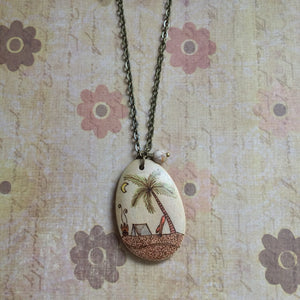 Beachfront Camping Necklace - OOAK