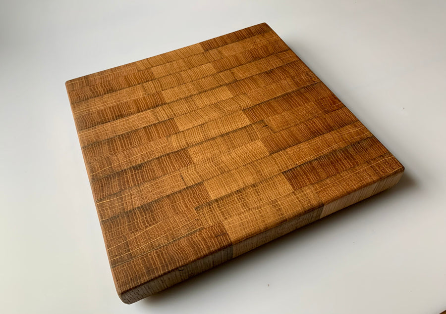"Wine Barrel Cheese Board - 9""x9"""