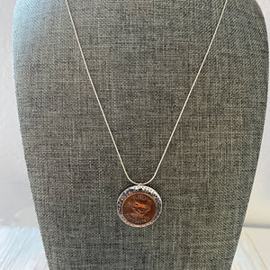 Penny Farthing Necklace- OOAK