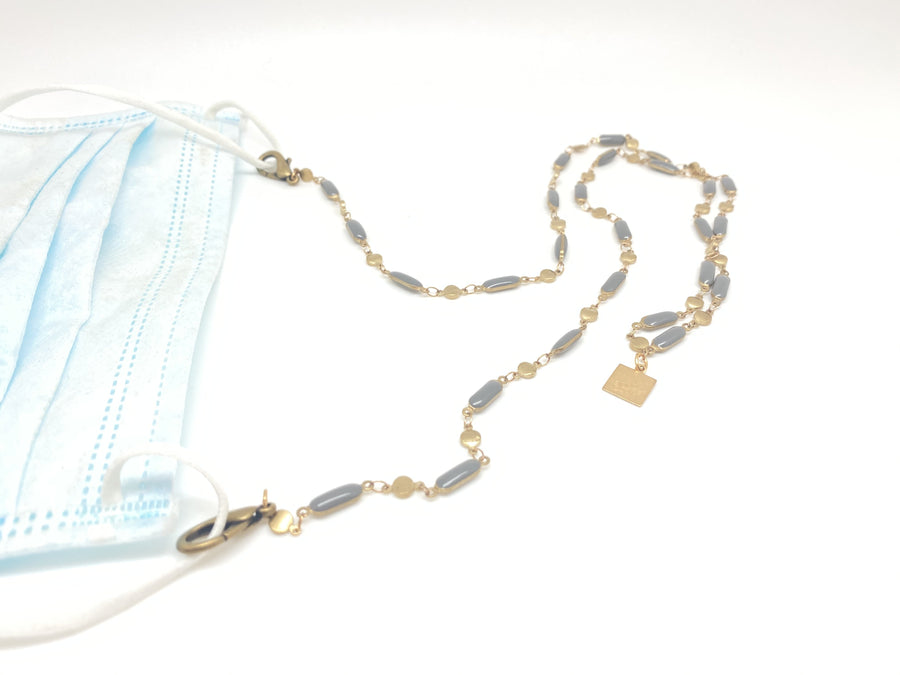 Enameled Mask Chain (Rainbow, Turquoise or Gray) - Clover Market