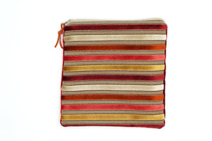 Striped Autumn Hues Skye Pouch - Exclusive & OOAK - Clover Market