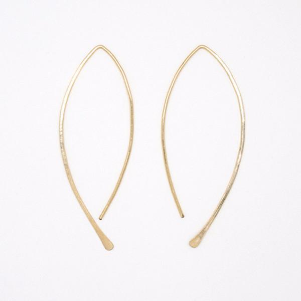 Large Gold Filled Threader Earrings-exclusive