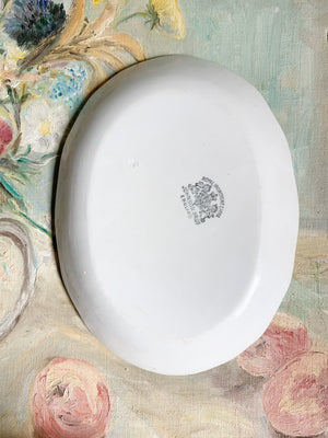 Antique Ironstone Oval Platter