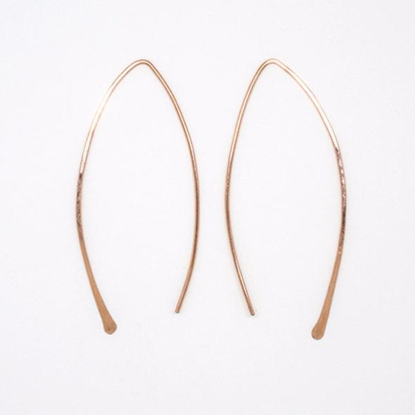 Large Rose Gold Threader Earrings- exclusive