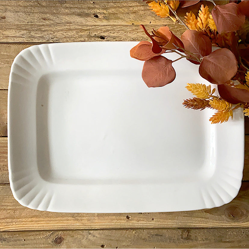 Antique English Ironstone Rectangular Platter