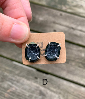 Tabasco Geode Stud Earrings - Clover Market