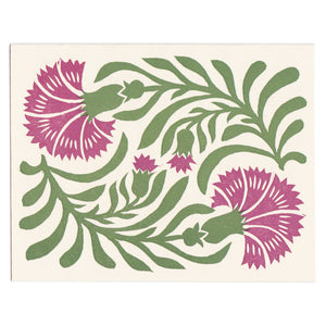 Set of 5 Letterpress Greeting Cards - Dianthus cards - blank inside