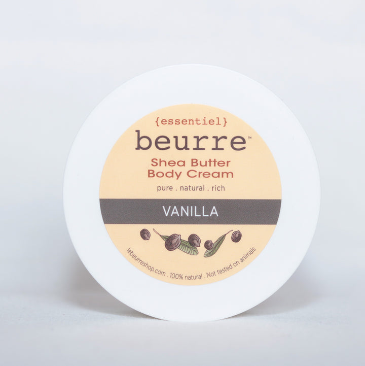 Shea Butter Body Cream - Vanilla (1oz) - Clover Market
