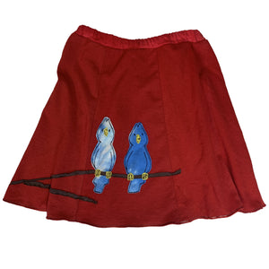 Kids Birds on Red Skirt - Exclusive - Clover Market