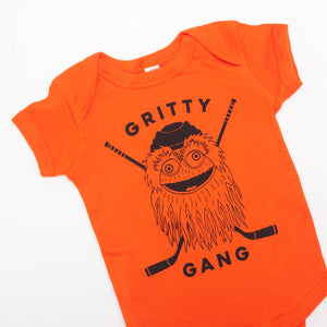Gritty Gang one-piece baby bodysuit