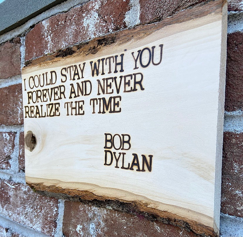 Bob Dylan 'Forever' Wall Hanging - OOAK