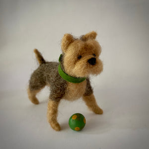 Needle Felted Yorkshire Terrier Dog - OOAK