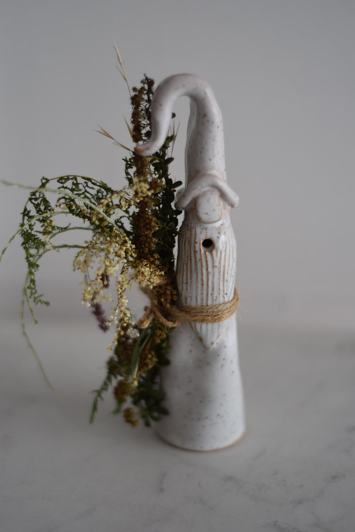 Gnome with Dried Floral Bouquet - Clover Exclusive - Clover Market