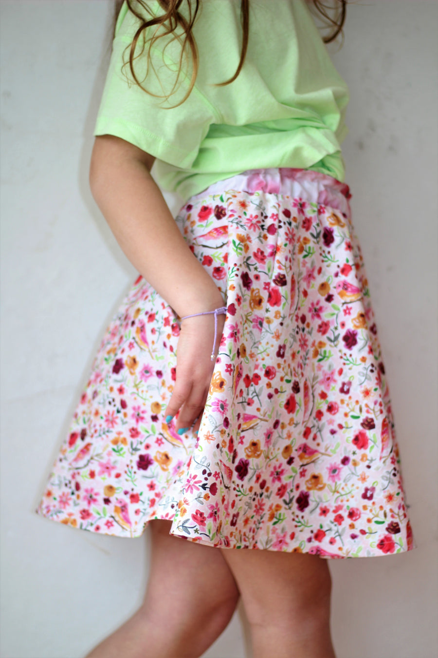 Spring Birds Twirl Skirt
