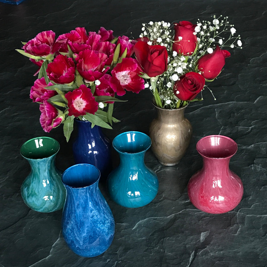 "Colorful Mini Vases (3""wide by 5"" tall) - Clover Market"