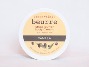 Shea Butter Body Cream - Vanilla (4oz)