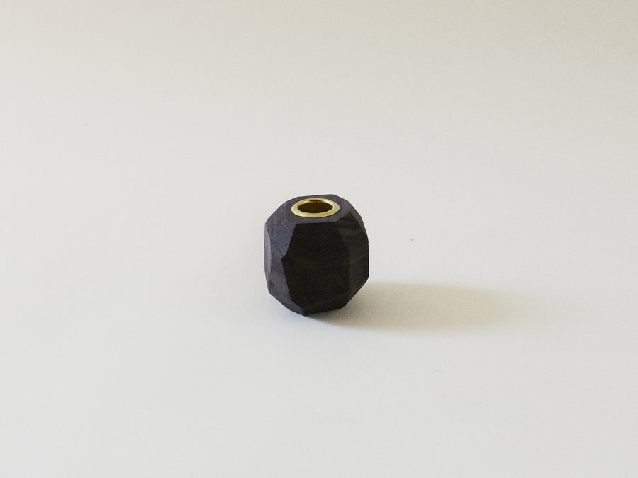 Ugo Candlestick Holder in Oxidized Black Walnut