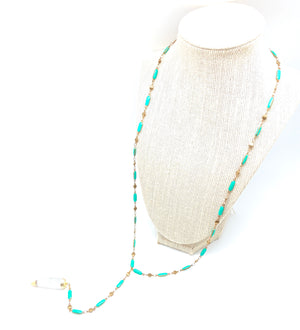 Enameled Quartz Lariat -Exclusive - Clover Market