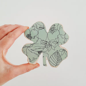 Lucky Clover- Mint Floral SMALL