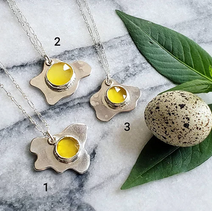 let's do brunch chalcedony pendants (asst'd). - Clover Market