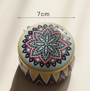 Soy Aromatherapy Candle - Geometric Flower
